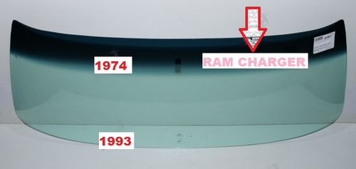 DODGE RAM - CHARGER 1974 - 1993  front windscreen windshield