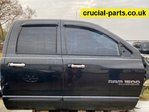 DODGE RAM 1500 2006-2009 rear passenger door side-right quad cab